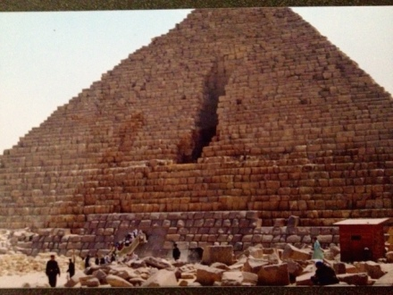 My photo while visiting pyramids in 2000