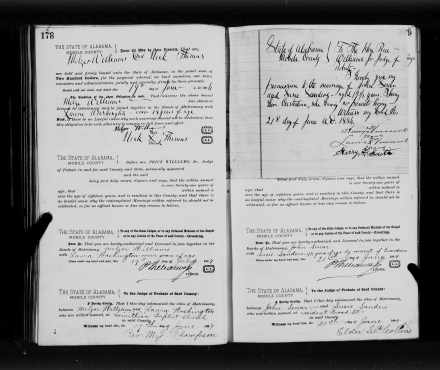 Marriage Certificate - Melzar Williams and Laura Washington