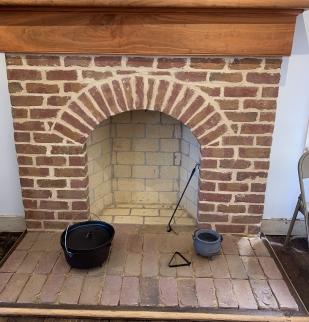 Barnes House working fireplace
